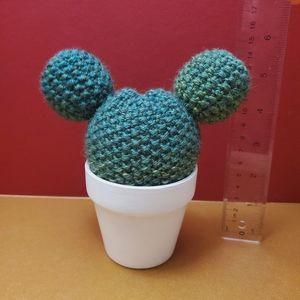 Handmade Mickey inspired knit topiary